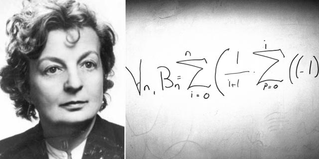 Hilda Geiringer och den matematiska nöten Bernoullitalen. TT