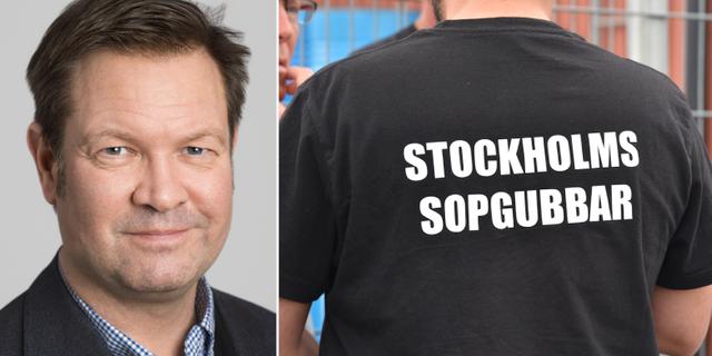 V-politikern Håkan Jörnehed till vänster.  Stockholms läns landsting / TT