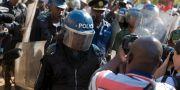 Protester i huvudstaden Harare efter valet.  Jerome Delay / TT / NTB Scanpix