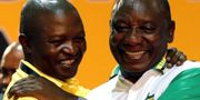 Ramaphosa och Mabuza. Siphiwe Sibeko / TT NYHETSBYRÅN