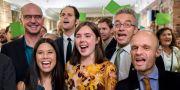 Glada miljöpartister på MDG:s valvaka Poppe, Cornelius / TT NYHETSBYRÅN