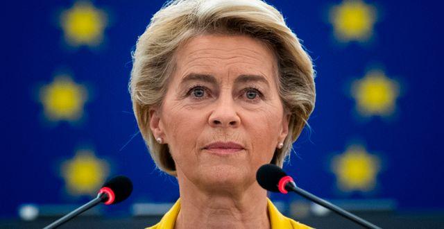 Ursula von der Leyen, EU-kommissionens ordföranden. Patrcjk Hertzog / TT NYHETSBYRÅN