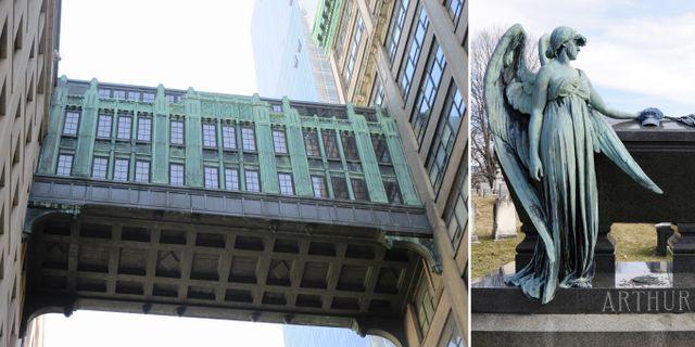 Likaså New Yorks art deco-inspirerade sky bridge nära Fifth Avenue och president Chester Arthurs grav. Brecht Bug/Tony Fischer