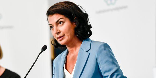 Taha Alexandersson under torsdagens pressträff Stina Stjernkvist/TT / TT NYHETSBYRÅN