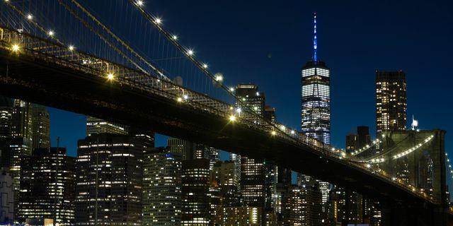 Brooklyn Bridge och Manhattan. Frank Franklin II / TT NYHETSBYRÅN