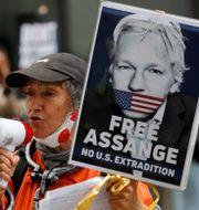 Demonstration för Julian Assange i London. Arkivbild. Frank Augstein / TT NYHETSBYRÅN