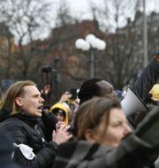 Coronademonstration i Stockholm i mars. Henrik Montgomery/TT / TT NYHETSBYRÅN
