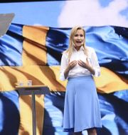 Arkivbild: Kristdemokraternas partiledare Ebba Busch Thor talar i Almedalen. TT