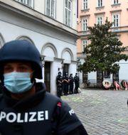 Polisen i Wien.  Matthias Schrader / TT NYHETSBYRÅN