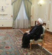 IAEA:s Rafael Mariano Grossi i ett möte med Irans president Hassan Rouhani i augusti förra året.  TT NYHETSBYRÅN