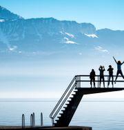 Illustrationsbild. Franska alperna sett från Schweiz-sidan. Laurent Gillierion / TT NYHETSBYRÅN