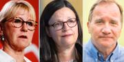 Margot Wallström, Anna Ekström, Stefan Löfven TT