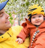 Pappalediga Erik Mellenius, Stockholm, med dottern Kerstin. Jonas Ekströmer/TT / TT NYHETSBYRÅN