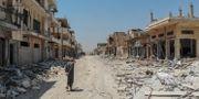 Södra delarna av Idlib efter en attack tidigare i år. Arkivbild. OMAR HAJ KADOUR / AFP