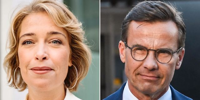Annika Strandhäll och Ulf Kristersson. TT
