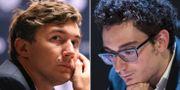 Sergej Karjakin och Fabiano Caruana. Arkivbilder. TT