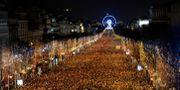 Nyårsfirandet på Champs-Elysees. GUILLAUME SOUVANT / AFP