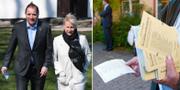 S-topparna Stefan Löfven och Margot Wallström. TT