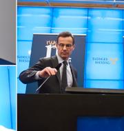 Joar Forssell och Tina Acketoft är kritisk till M- och KD-budgeten. TT