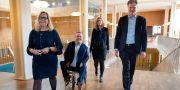 Alliansen i Göteborg. Helene Odenjung (L), David Lega (KD), Emmyly Bönfors (C) och Axel Josefson (M). Thomas Johansson/TT / TT NYHETSBYRÅN