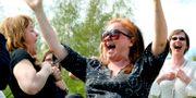 Världsskrattdagen firades med skratt på Galärvarvet 2008.  JONAS EKSTRÖMER / TT / TT NYHETSBYRÅN