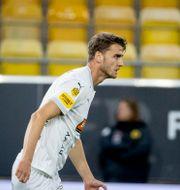 Johan Hammar jublar efter sitt mål. Adam Ihse/TT / TT NYHETSBYRÅN