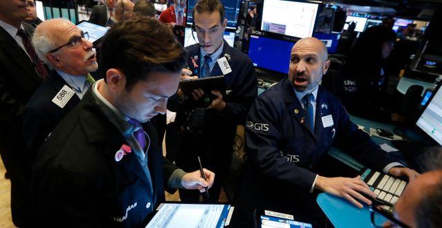 Wall Street. Arkivbild. Richard Drew / TT NYHETSBYRÅN