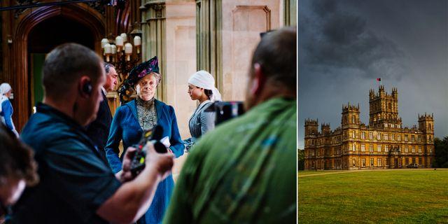 Tv-serien Downton Abbey är inspelad på slottet Highclere Castle i byn Hampshire i England. Simon Paulin/TT