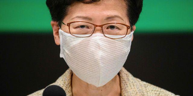 Hongkongs ledare Carrie Lam. ANTHONY WALLACE / TT NYHETSBYRÅN