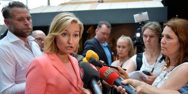 Ebba Busch Thor (KD). Anders Wiklund/TT / TT NYHETSBYRÅN