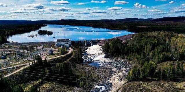 Vattenkraftverket Laforsen utanför Kårböle. Vattnet är en del av Ljusnan. Illustrationsbild.  Pontus Lundahl/TT / TT NYHETSBYRÅN