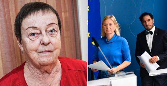 Christina Tallberg/Magdalena Andersson och Ardalan Shekarabi TT