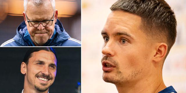 Janne Andersson, Zlatan Ibrahimovic, Mikael Lustig. Bildbyrån