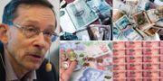 Lars Calmfors, pengar. Arkivbilder. TT
