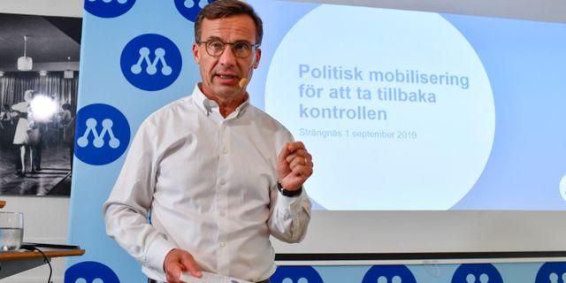 Moderatledaren Ulf Kristersson.  Anders Wiklund/TT / TT NYHETSBYRÅN