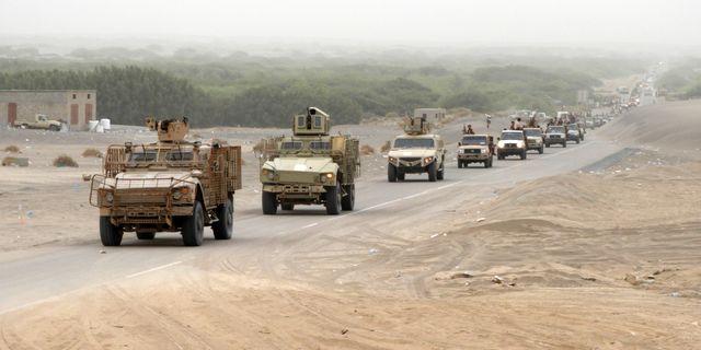 Regeringsstyrkor nio kilometer från al-Hudaydah på onsdagen. NABIL HASSAN / AFP