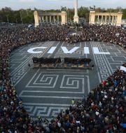Protest i Ungern 2017 Zoltan Balogh / TT NYHETSBYRÅN