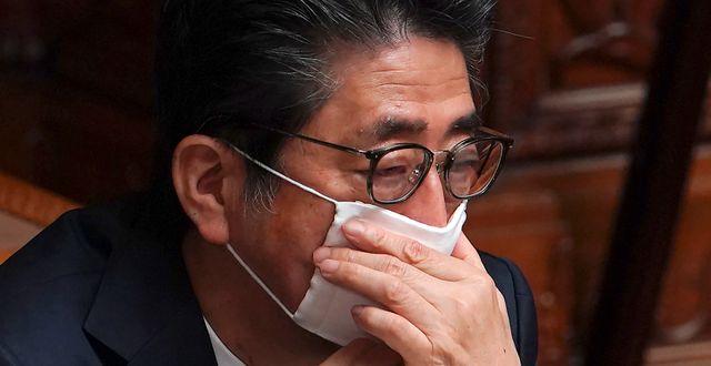 Premiärminister Shinzo Abe. Eugene Hoshiko / TT NYHETSBYRÅN