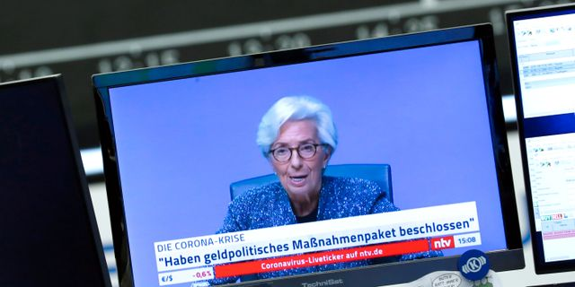 ECB:s chef Christine Lagarde.  Ralph Orlowski / TT NYHETSBYRÅN