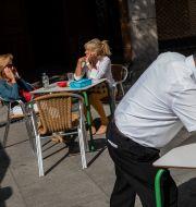 Restaurang i Madrid. Bernat Armangue / TT NYHETSBYRÅN