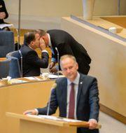 Stefan Löfven, Jonas Sjöstedt JESSICA GOW / TT / TT NYHETSBYRÅN