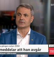 Ibrahim Baylan i SVT:s Morgonstudion. SVT