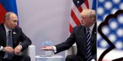 Vladimir Putin och Donald Trump, presidenter. TT