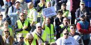 Bensinupproret 2.0 håller protestdemonstration på Sergels torg. Fredrik Sandberg/TT / TT NYHETSBYRÅN
