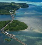 Väg på huvudön Babeldoab i önationen Palau TT NYHETSBYRÅN