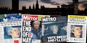 The Guardians, Daily Mirrors, Metros och Daily Telegraphs förstasidor. TT/skärmdumpar