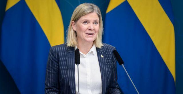 Magdalena Andersson, finansminister.  Carl-Olof Zimmerman/TT / TT NYHETSBYRÅN