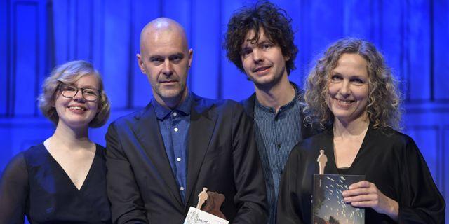 Emma-Karin Rehnman, Patrik Svensson, Oskar Kroon och Marit Kopla. Pontus Lundahl/TT / TT NYHETSBYRÅN