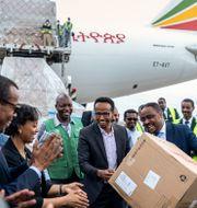Jack Mas hjälpsändning anländer till Etiopien den 22 mars. Mulugeta Ayene / TT NYHETSBYRÅN