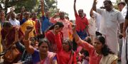 Protesterna i Indien. R S Iyer / TT NYHETSBYRÅN/ NTB Scanpix